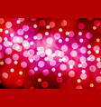 abstract white yellow bokeh red pink night vector image