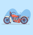 old vintage motorcycle of red vector image