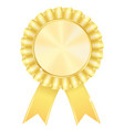 golden award badge vector image