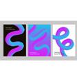 abstract creative design 3d flow shape liquid 2019 vector image vector image