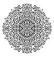 abstract mandala ornament asian pattern black vector image