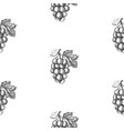 abstract sketch berry seamless pattern vector image vector image
