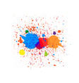 abstract splatter color background design vector image vector image