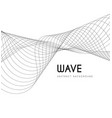 abstract waves from lines blend design vector image vector image