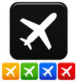 aircraft icons airplane aeroplane symbol with vector image