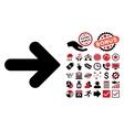 Arrow Right Flat Icon with Bonus vector image vector image