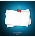 background with a stack of paper vector image vector image