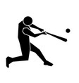 baseball sport icon vector image