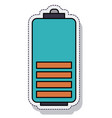 battery power isolated icon vector image vector image