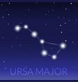 big dipper or ursa major great bear constellation vector image