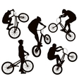 Biker silhouettes set vector image