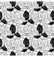 black and white magnolia flowers vector image vector image