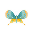 brightly colored butterfly with two pairs of vector image vector image