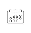 Calendar icon outline vector image