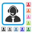 call center manager framed icon vector image vector image