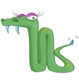 cartoon character snake vector image vector image