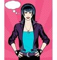 Caucasian Vampire Punk Rock girl poster vector image vector image