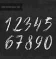 Chalk Numbers vector image