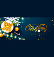 christmas and happy new year bannerholiday vector image vector image