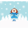 christmas snow child vector image vector image