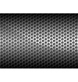 Chrome Perforated Metal Grid vector image