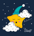 cloud and star icon sleep night dreams symbol