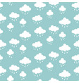 clouds background rain drops pattern seamless vector image vector image
