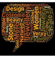 COSTUME JEWELLERY text background wordcloud vector image vector image