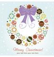 Creative design Christmas wreath vector image