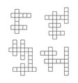 crossword puzzle flat icons set crosswords vector image