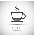 Cup of espresso ristretto simple icons vector image vector image