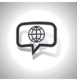 Curved globe message icon vector image vector image