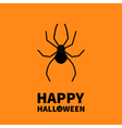 Cute cartoon black spider insect Happy Halloween vector image