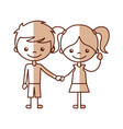 cute kids characters icon vector image vector image