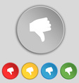 Dislike Thumb down icon sign Symbol on five flat vector image vector image