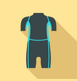 diving wetsuit icon flat style vector image