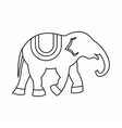 Elephant icon outline style vector image vector image