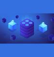 etherium platform concept vector image