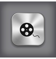 Film roll icon - metal app button vector image vector image