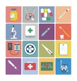 Flat design icon set - Medical vector image vector image