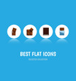 flat icon cacao set of bitter wrapper dessert vector image vector image