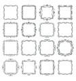 flourishes vintage frames set vector image vector image