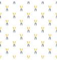garden scissors pattern seamless vector image vector image