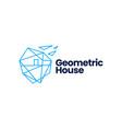geometric house home polygonal logo icon vector image