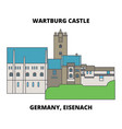 germany eisenach wartburg castle line ico vector image vector image