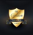 golden award badge design vector image vector image