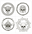 grayscale skull ornament vector image vector image