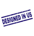 grunge textured designed in us stamp seal vector image vector image