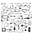 hand drawn arrows and spots set vector image