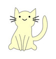 hand drawn cute cat with phrase lovely cute weow vector image vector image